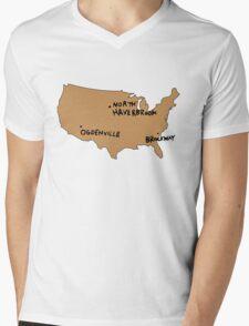 Ogdenville, North Haverbrook and Brockway Mens V-Neck T-Shirt