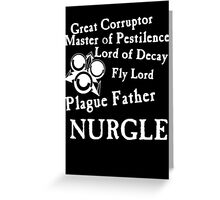 Nurgle, the Plague Father Greeting Card