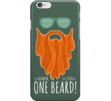 Red Beard Illustration / One Bourbon, Once Scotch & One Beard iPhone Case/Skin