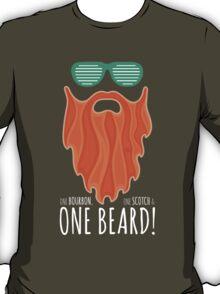 Red Beard Illustration / One Bourbon, Once Scotch & One Beard T-Shirt