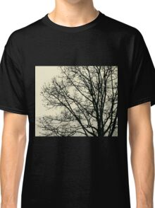 Fall Tree Silhouette Vector Yellow Classic T-Shirt