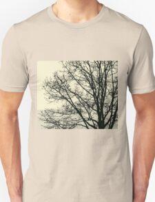 Fall Tree Silhouette Vector Yellow Unisex T-Shirt