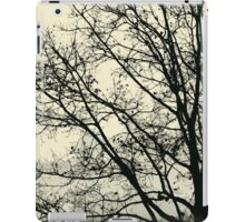 Fall Tree Silhouette Vector Yellow iPad Case/Skin
