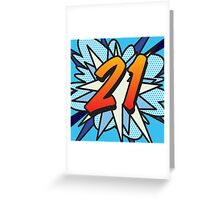 Comic Book 21 blue Greeting Card