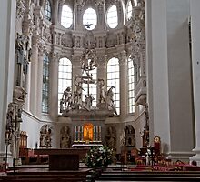 The Altar of St Stevens Cathedral in Passau Germany by Keith Larby