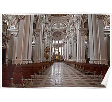 St Steven's Cathedral in Passau Germany Poster