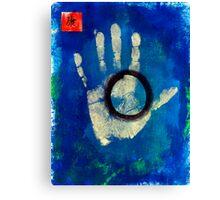 Health Hand Print Canvas Print