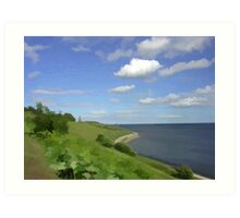 Mouth of the river Tyne Art Print