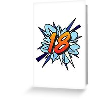 Comic Book 18 blue Greeting Card