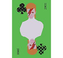 David Bowie - King of Spades Photographic Print