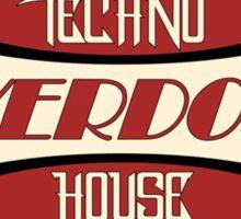 Overdose Techno House Sticker