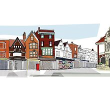 Marlborough High Street and Town Hall by Sue Porter