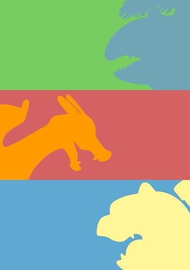 Pokemon Starters - Gen 1 by TipsyKipsy