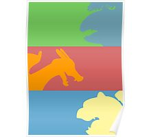 Pokemon Starters - Gen 1 Poster