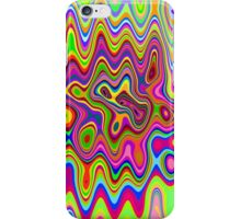 Psychedelic Glowing Colors Pattern iPhone Case/Skin
