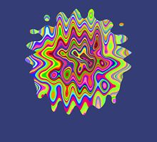 Psychedelic Glowing Colors Pattern T-Shirt
