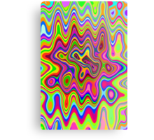 Psychedelic Glowing Colors Pattern Metal Print