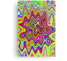 Psychedelic Glowing Colors Pattern Canvas Print