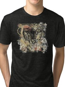 Bloody Cool Goat - Modern Grunge and Wicked Design Tri-blend T-Shirt
