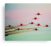 Red arrows RAF Canvas Print