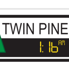 Twin Pines Mall Sticker