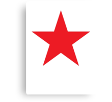 Red Star, Stardom, Power to the people! Stellar, Cosmic Canvas Print