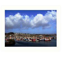 Newlyn Harbour - Cornwall UK Art Print