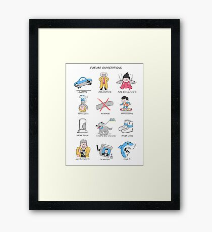 Future Expectations Framed Print