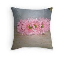 carol's crown of florals  Throw Pillow