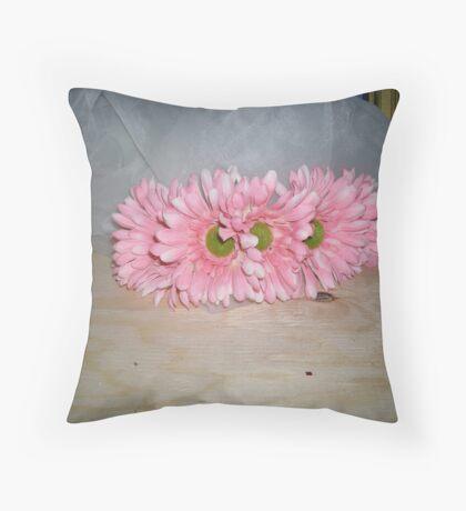carol's crown of florals  Throw Pillow