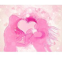 Cute couple in love Photographic Print