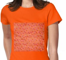 Cute hearts paper pattern Womens Fitted T-Shirt