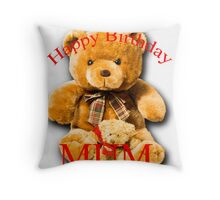 Birthday Bears for Mothers Throw Pillow