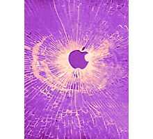 PURPLE BULLET HOLE SMARTPHONE CASE (Graffiti) Photographic Print