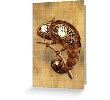 Steampunk Chameleon Vintage Style Greeting Card