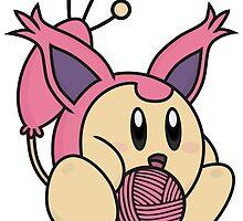 Kirby / Skitty by elenwae