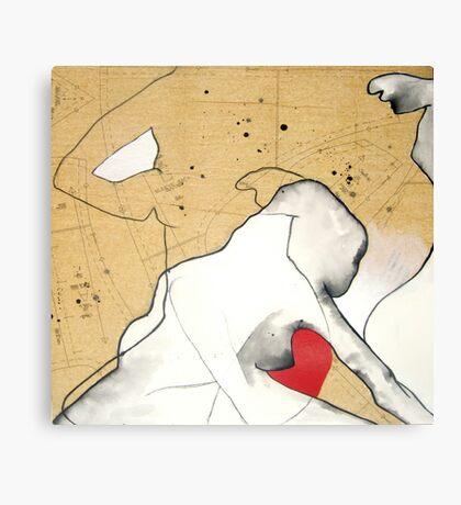mapping myself2 Canvas Print