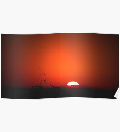 sunset series Lancelin W.A Poster