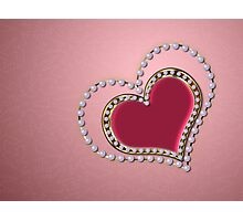 Heart of pearls Photographic Print