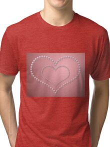 Heart of pearls 3 Tri-blend T-Shirt