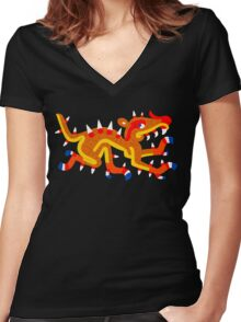 Cipactli Women's Fitted V-Neck T-Shirt