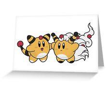Kirby / Ampharos - Mega Ampharos Greeting Card