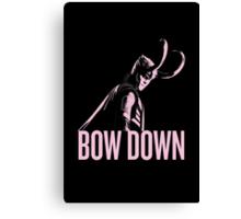 Loki: BOW DOWN Canvas Print