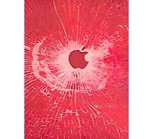 RED BULLET HOLE SMARTPHONE CASE (Graffiti) Photographic Print