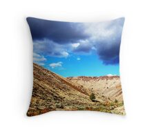 A Watershed or Drainage Throw Pillow