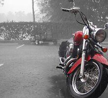 Motorbike in the rain by CSutton