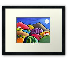 Winery Nights Framed Print