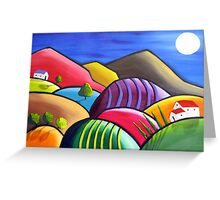 Winery Nights Greeting Card