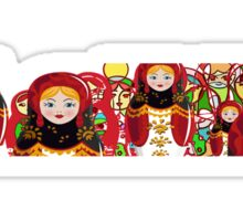 Matryoshka Babushka doll from Russia Sticker