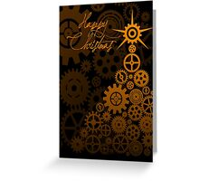 Steampunk Christmas Card Greeting Card